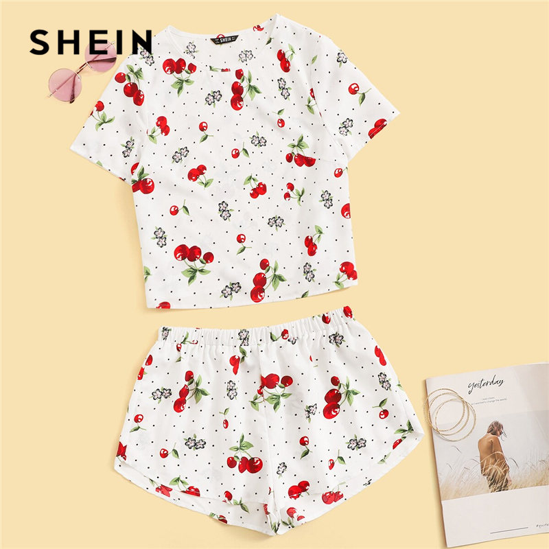 shein-cherry-and-floral-print-tee-and-shorts-set-2019-white-casual-short-sleeve-summer-clothes-for-women-two-piece-set