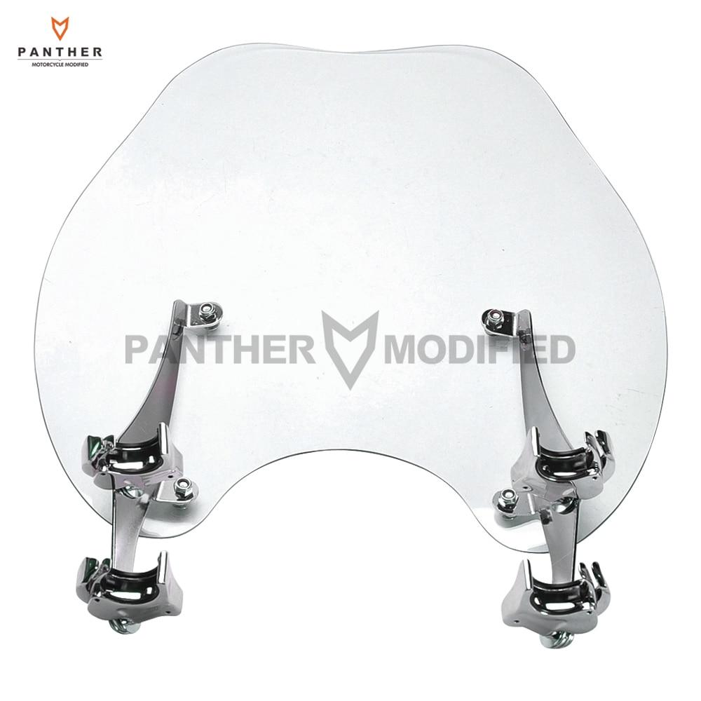Moto détachable PC clair pare-brise Moto avant pare-brise pare-brise Kit d'écran pour HD Harley Sportster XL883 1200
