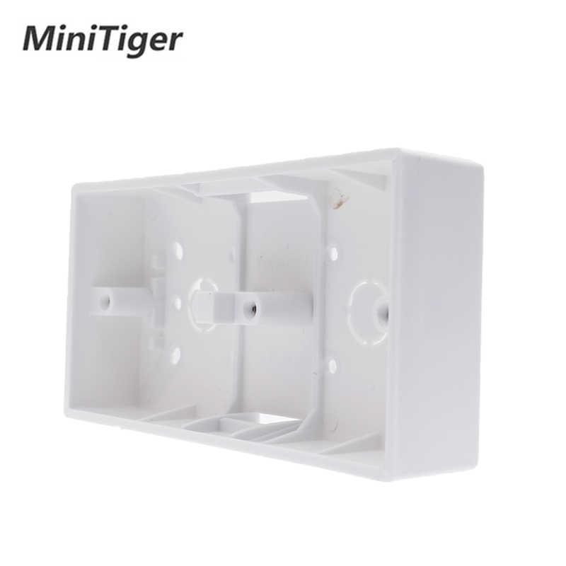 Minitiger חיצוני הר תיבת 172mm * 86mm * 33mm עבור 86 סוג כפול מגע מתגים או שקעים להחיל עבור כל עמדה של קיר משטח