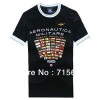 Aeronautica Militare casual shirt, mężczyźni T-Shirt, S/M/L/XL/XXL koszule, AM odzież, kraj oznacz Topy darmowa wysyłka