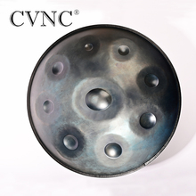 все цены на CVNC New  Harmonic Handpan Gray Color 9 Note Steel Tongue Percussion Drum 21.65 Inch(55cm) Hand Drum Hand Pan Hanging Bag