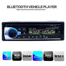 Coches reproductor de radio estéreo bluetooth teléfono aux-in mp3 fm/usb/1 din/control remoto para iphone 12 v audio del coche auto 2016 venta nuevo