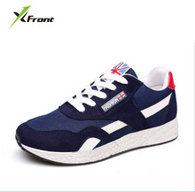Original X-Front Brand unisex knit breathable mesh cushion sole men's running shoes outdoor sports women run sneakers