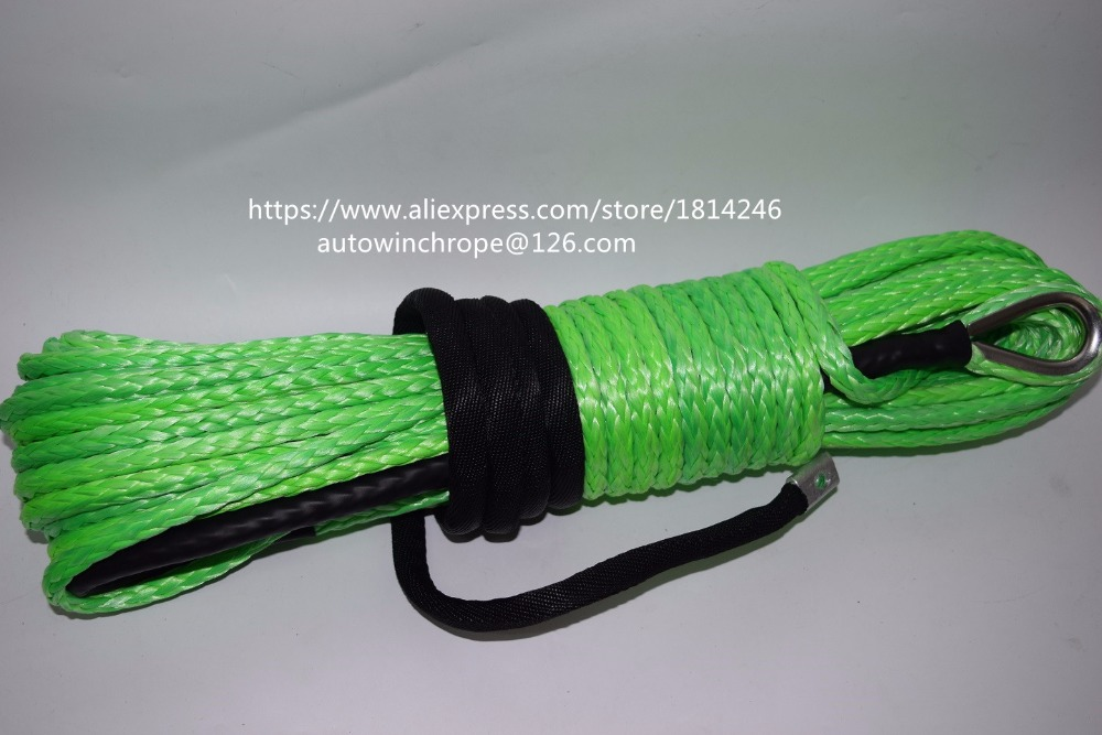 Free Shipping Green 8mm*30m Synthetic Winch Rope,Off Road Rope,ATV Winch Cable,Boat Winch Rope 3500lb winch electric winch 12v 4x4 utv atv winch free shipping