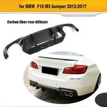 Carbon Fiber Car Rear font b Bumper b font Lip spoiler Diffuser For BMW F10 M5