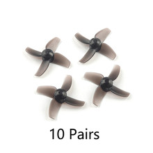 Happymodel 40 Mm 4-Paddle Baling-Baling PC Alat Peraga 1.0 Mm Lubang CW CCW untuk Mobula7 Mobula 7 FPV Racing drone Quadcopter(China)