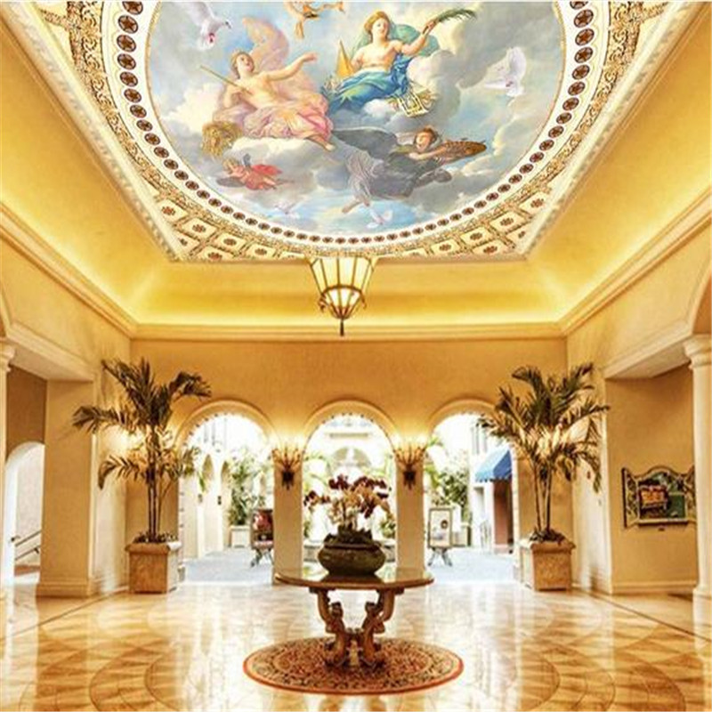 European Luxury Angles Wall Papers HD Fresco Ciling Murals Wallpapers for Walls 3D Murals Photo Wallpapers for Living Room Hotel 3d embossed moon star photo wallpapers murals for kids bedroom living room wall decorative wall papers wallpaper for walls 3 d