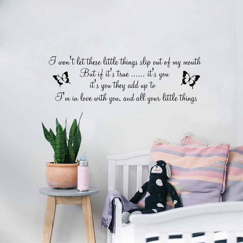 Large Size Xcm D One Direction Song Lyrics Little Things - One direction wall decals