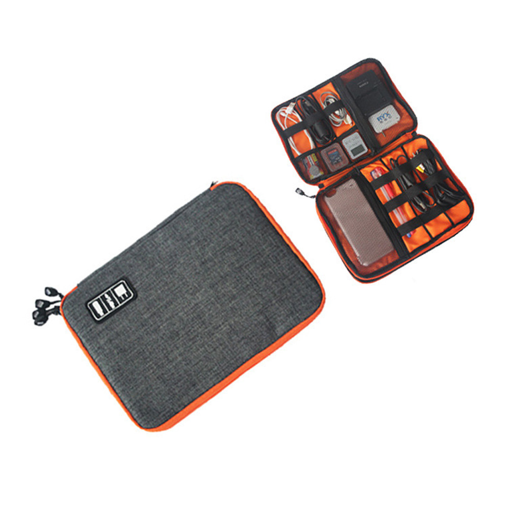 Data Cable Organizer Bag Packet Waterproof Travel Storage Bag Electronics USB Charger Case J2Y