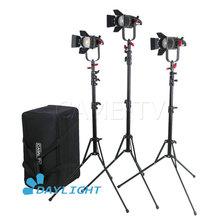 3 pçs CAME TV boltzen 30w fresnel fanless focusable led luz do dia kit com suportes de luz led vídeo luz