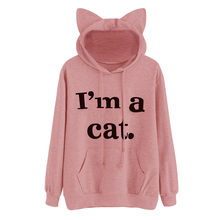 d0c28e08d100d9 KANCOOLD 2017 fashion high quality Womens Cat Long Sleeve Hoodie Sweatshirt  Hooded Pullover Tops Blouse Jumper