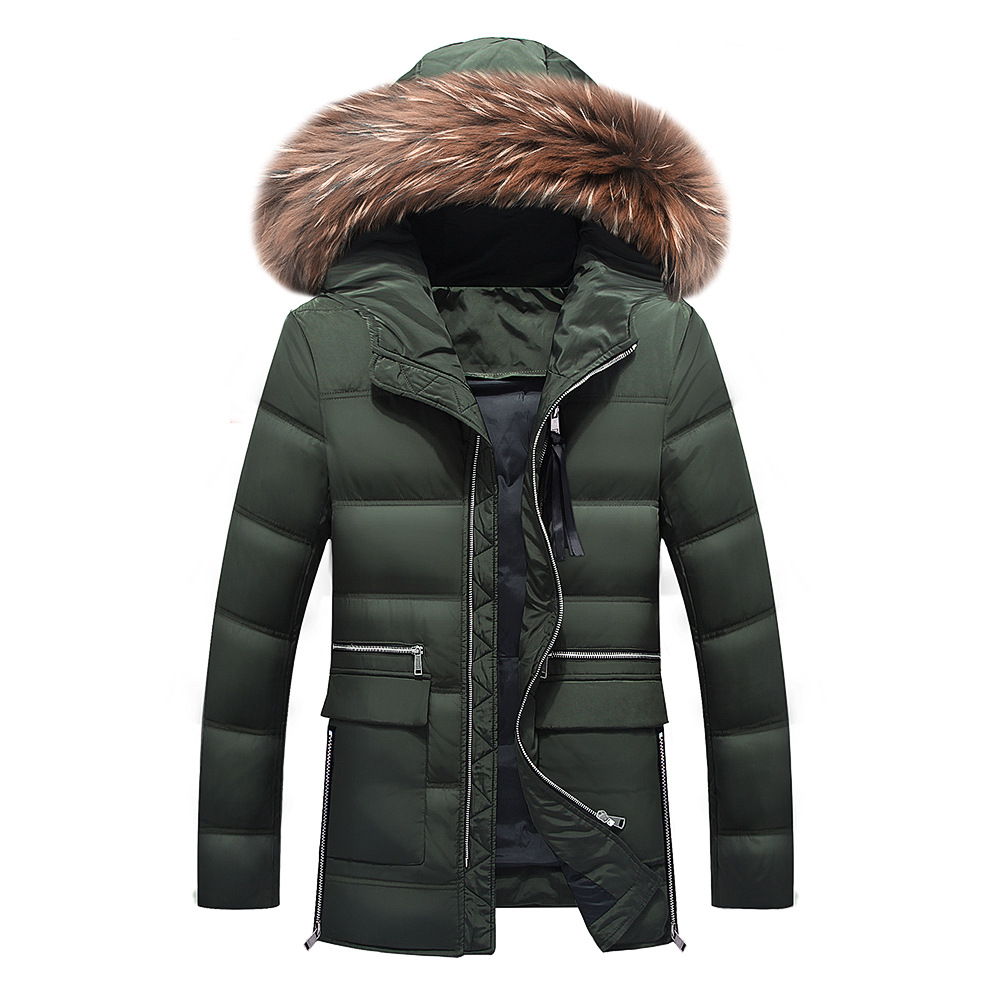 Free shipping 2019 winter jacket for fur collar long jacket with size M-3XL