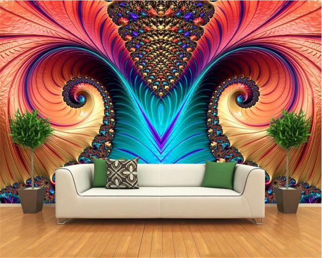 beibehang 3D papel de parede fashion art wall paper abstract pattern ...