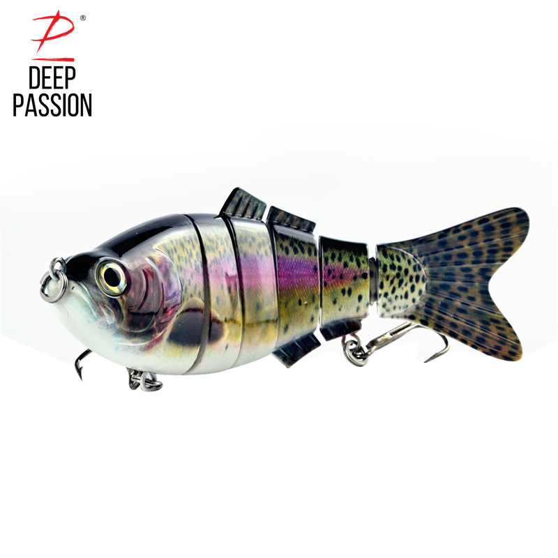 Fishing Lure Multi Jointed 3D Eyes Lure 6 segment Fishing Hard Baits Fishing Gear Lures Peche Artificial Bait Integrated Bait