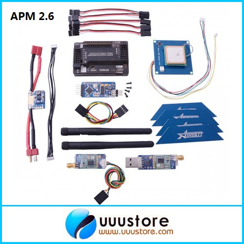 APM 2.6 ArduPilot Flight Controller + GPS + 500mw 3DR Radio Telemetry 915Mhz + Minimosd + Current Sensor minimosd on screen display osd board apm telemetry to apm 1 and apm 2