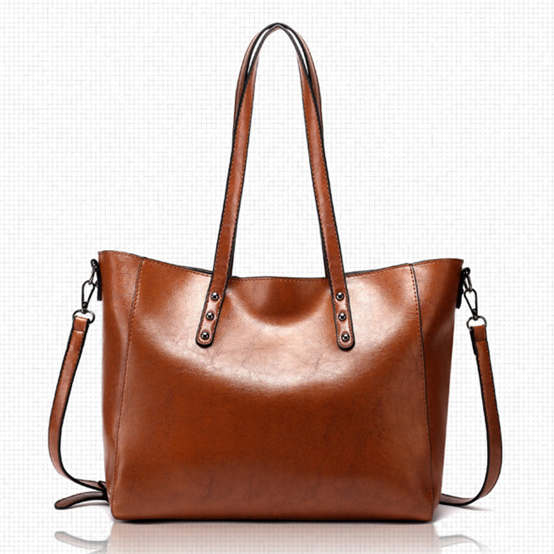 Women messenger bags Large Capacity Tote Woman bag 2019 Fashion Ladies Handbags Female Casual Pu Shoulder crossbody bag in Shoulder Bags from Luggage Bags