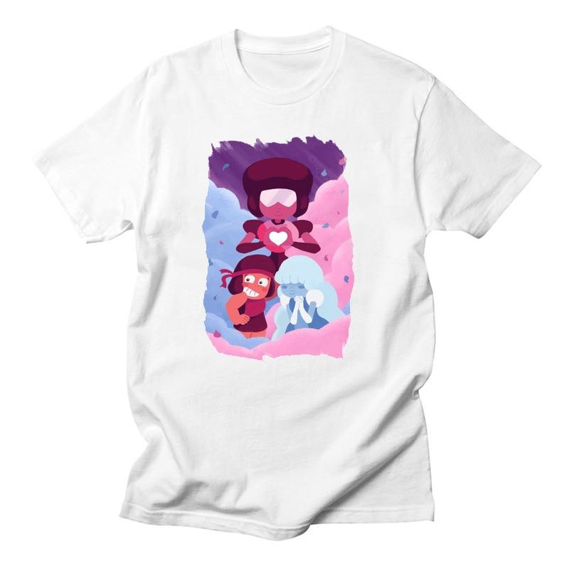 d36604452d4e0 US $7.37 42% OFF|Anime T Shirt Men Steven Universe Garnet LGBT Lesbian  White T shirt Women Sugar Life Adventure Crystal Gems Top Tee-in T-Shirts  from ...