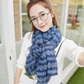 The new hot cotton soft women scarf  Fashion wild striped printing scarf