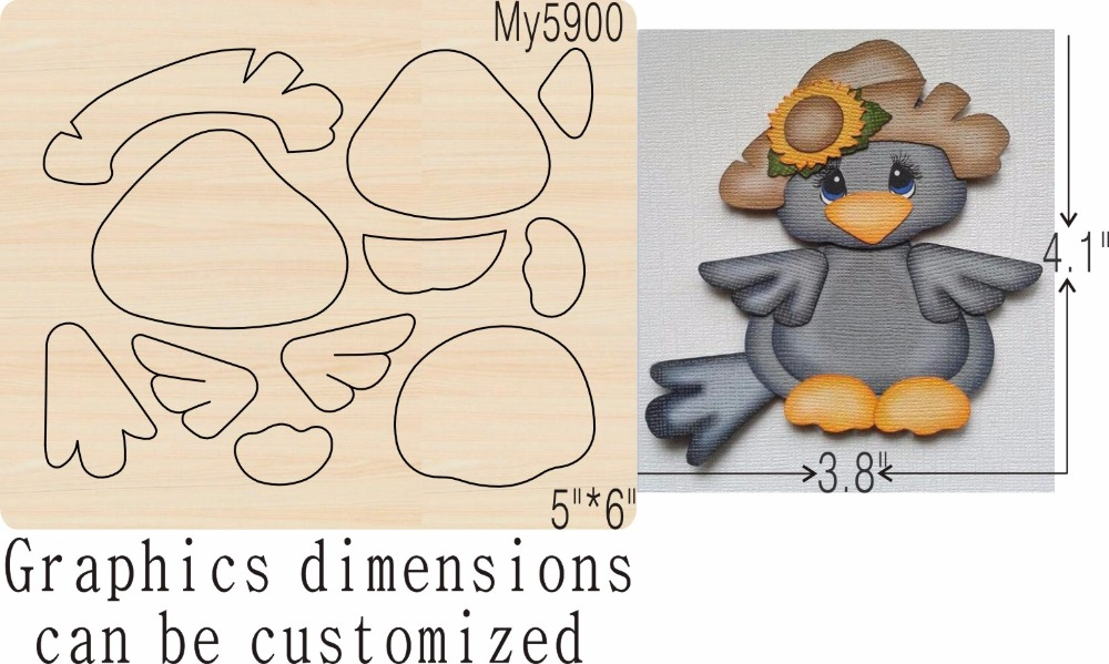 Birds and straw hats new wooden mould cutting dies for scrapbooking Thickness 15 8mm