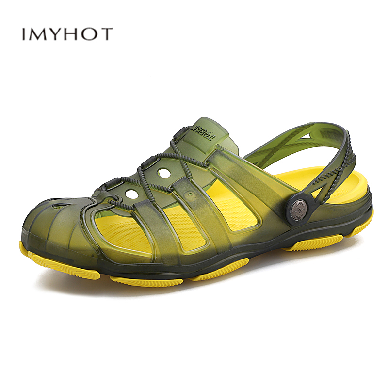 Environmentally friendly light jelly double-use slippers casual comfortable beach shoes non-slip wear-resistant shoes maleEnvironmentally friendly light jelly double-use slippers casual comfortable beach shoes non-slip wear-resistant shoes male