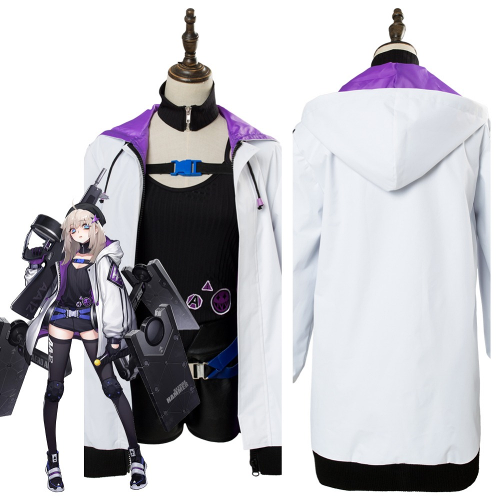 Girls Frontline Cosplay Girls' Frontline AA12 Silverwing Cosplay Costume Outfit Adult Halloween Carnival Cosplay Costumes