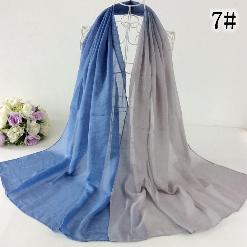 Two Color Tie Dye Ombre Design Muslim Hijab Wrap Long Shawls And Scarves Wrap 10pcs /lot