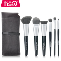 MSQ 6PCS Makeup Brush Set With Soft Fluffy Hair And Comfortable Flannelette Bag High Quality