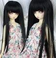 1/3 1/4 1/6 BJD/ДД кукла DIY Высокотемпературный черный длинные прямые волосы для девочек