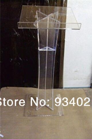 Free Shipping Lectern Transparent Beautiful Modern Design Simple Firm Cheap Acrylic Lectern