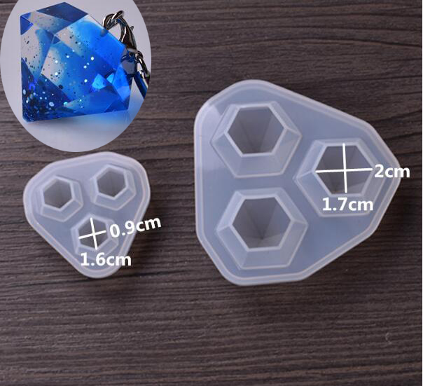 1 = 3 Stücke Silikonform Für Schmuck Diamant-anhänger Halskette Handwerk Machen Harz Epoxy Silikon Form Handgemachte Werkzeug 17*19/24*25mm Ohne RüCkgabe