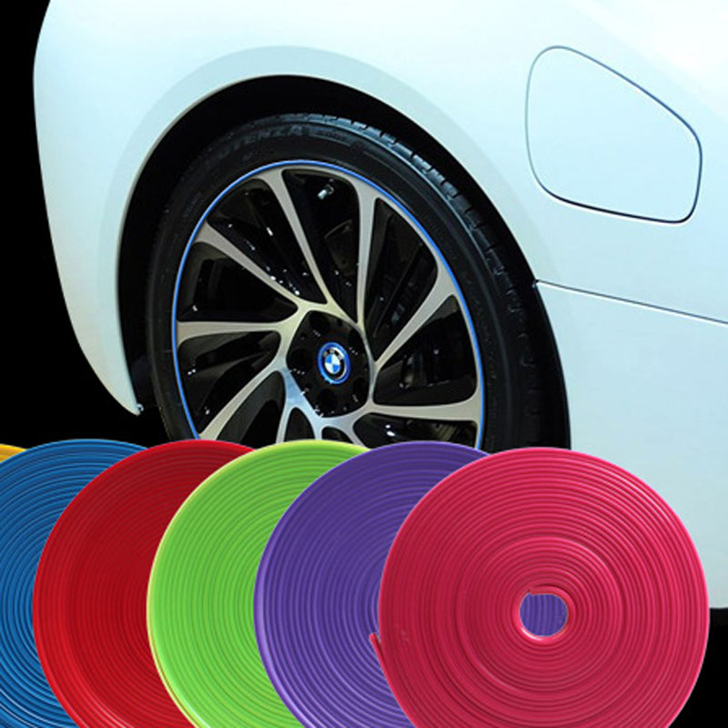 8m Hub protection ring, cool car tire protection strip hub hub decoration ring, car refit decoration accessories