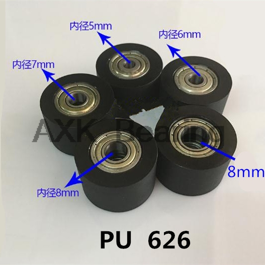 626 PU polyurethane plastic bag double plastic bag bearing guide pulley wheel nylon platen roller BK3030 5*6*7*8*10*30*20 mm 1 piece bu3328 6 6 33 27 5 29 5 mm z25 guide rail u groove plastic roller embedded dual bearing