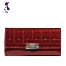 FOXER Famous 2016 Brand Women Leather Long Wallet Luxury Female Purse Free shipping