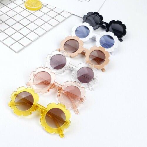 Cute Toddler Beach Flower Goggles Infant Baby Kids Unisex Child Plastic UV400 Frame Sunglasses Girl Boys Summer Outdoor Glasses