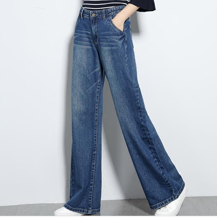 High Waist jeans Women Wide leg Spring Loose Jeans Women Plus Size casual straight jeans
