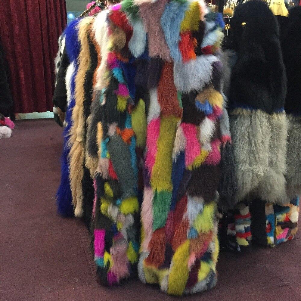 Long Multi De Femmes Mode D'hiver Manteau Sqxr Nouvelle Véritable Renard Veste Gilet Fourrure qwgpEB7z