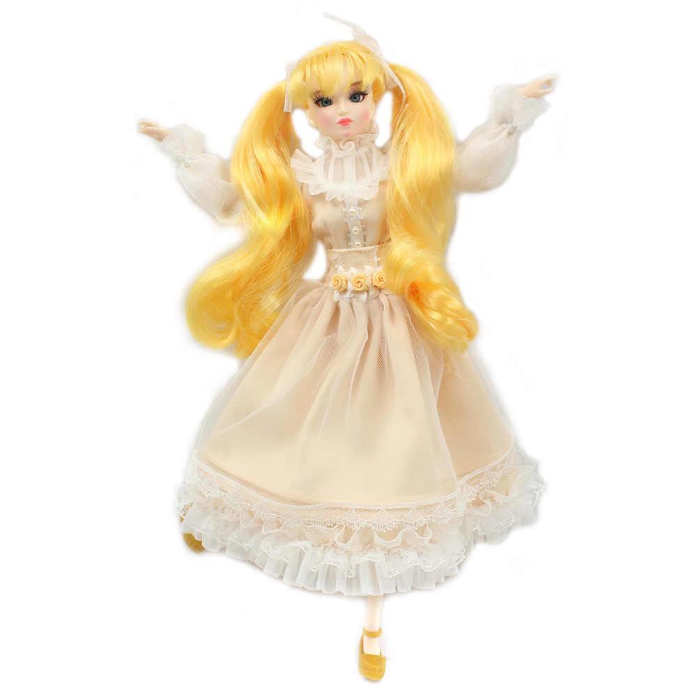 Мм девочка 30 см кукла с гибкими суставами Имя Мэгги желтые волосы 1/6 BJD кукла
