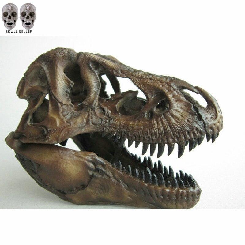 P-Flame 1/12 Tyrannosaurus Rex Dinoszaurusz koponya kézműves gyanta Fosszilis szimulációs koponya modell gyűjteményekhez