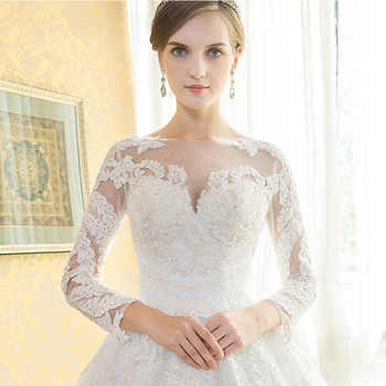 Vintage Wedding Dresses 2019 New Robe De Mariee Grande Taille Mrs Win Princess Illusion Lace Embroidery Wedding Dress