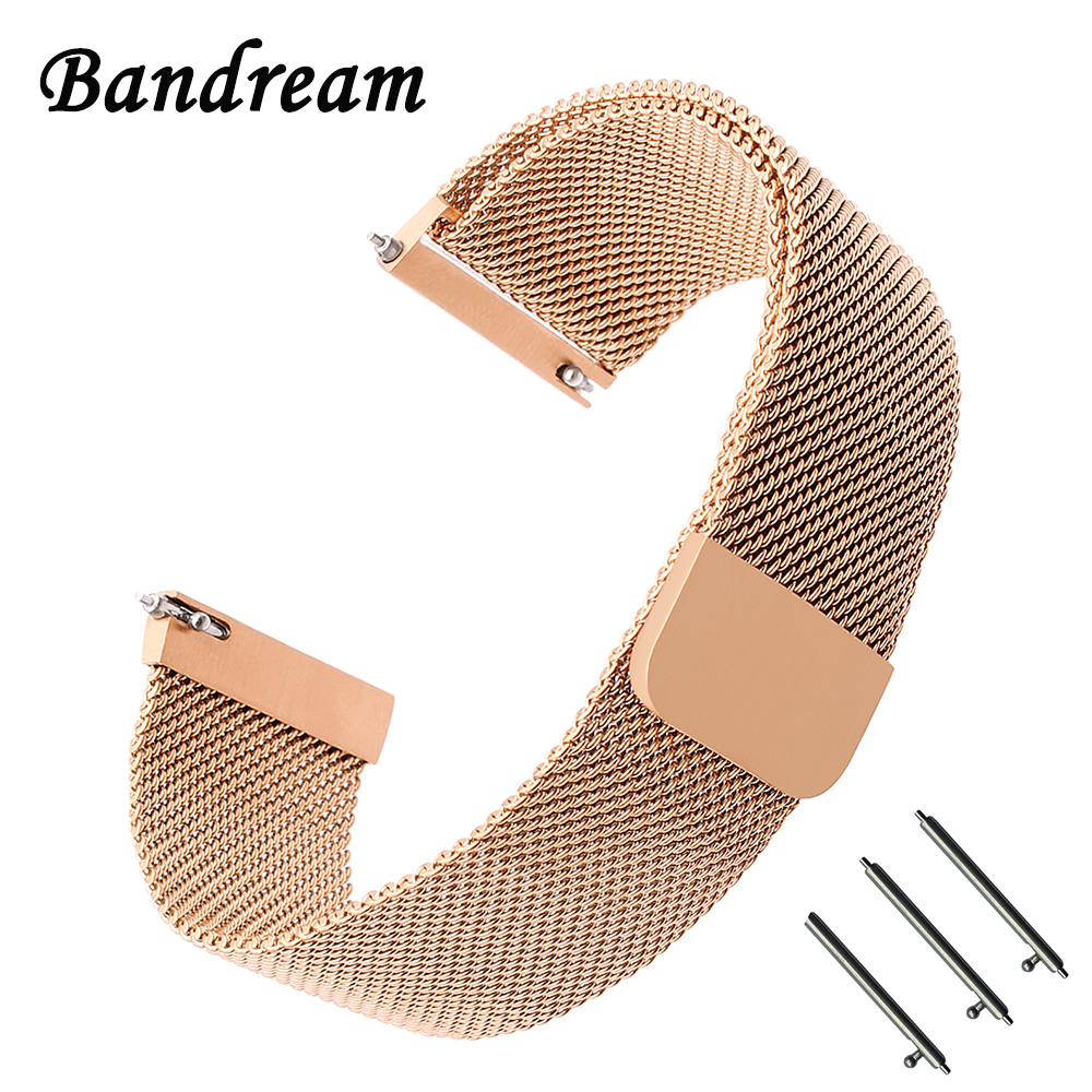22mm 20mm Milanese Watchband Magnetic Strap For Samsung Galaxy Watch 46mm  42mm R800 R810 Stainless Steel Band Accessory Bracelet