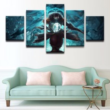 DotA 2 Kunkka Game 5 Piece Canvas Wall Art For Living Room Painting Wall Art Canvas Painting Modern HD Print Home Decor Picture urban hd print wall art canvas painting modern home canvas wall art for living room painting modern decor home decor picture
