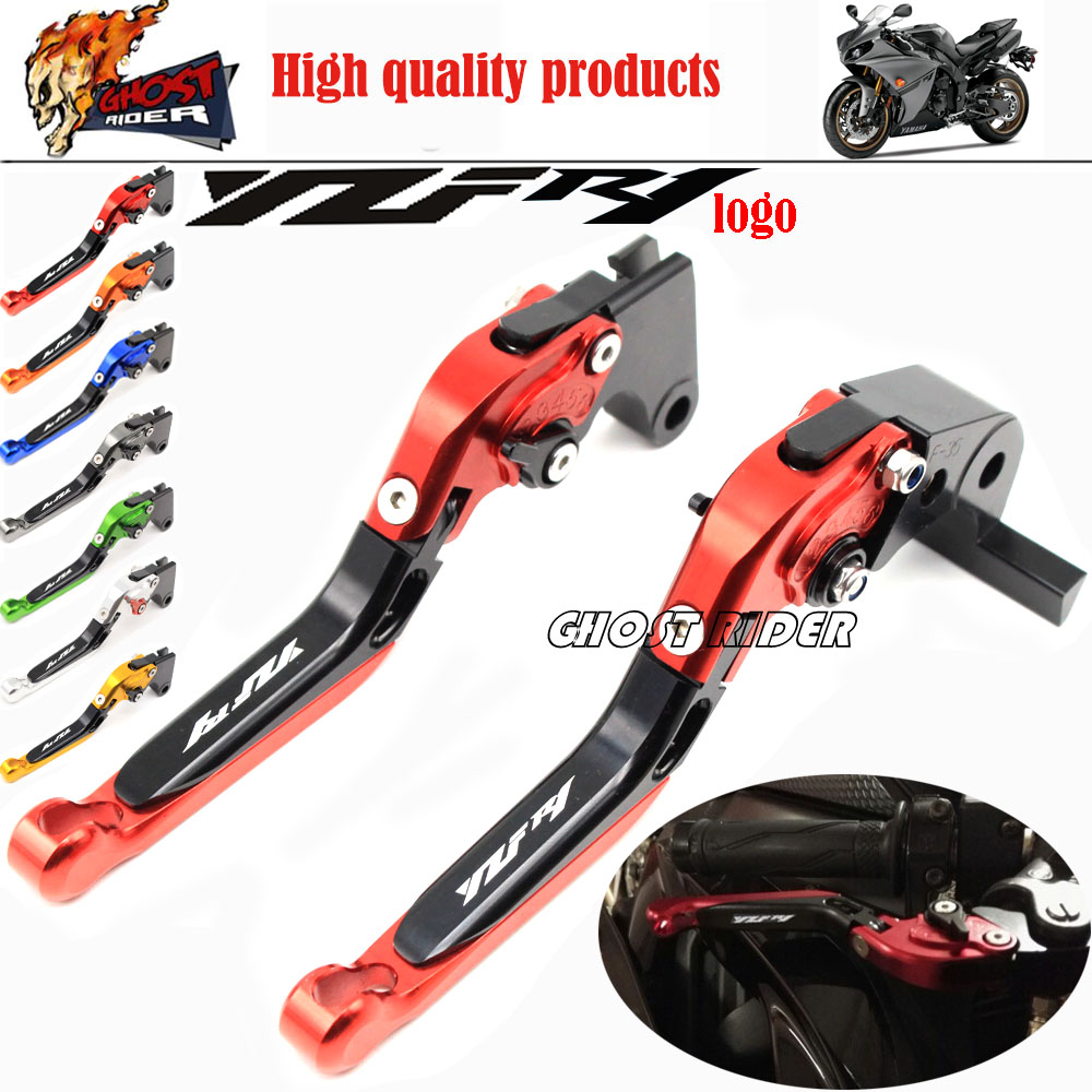 fits For YAMAHA YZF R1 2009 2010 2011 2012 2013 2014 Motorcycle Adjustable Folding Extendable Brake Clutch Levers logo YZF R1 cnc folding extendable brake clutch levers for yamaha yzf r1 2009 2010 2011 2012 2013 2014
