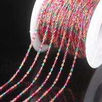 NEW! Mix Color Japanese seed beads Rosary Chain,Stainless Steel Wire Wrapped Miyuki Delica Glass beaded Chains Necklace Jewelry