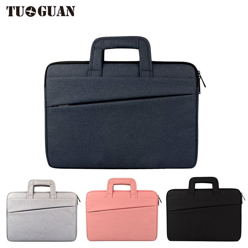 TUGUAN Men Women Scratch Proof Waterproof Laptop Bags Portable Computer Case Briefcases Notebook Bag Air Pro