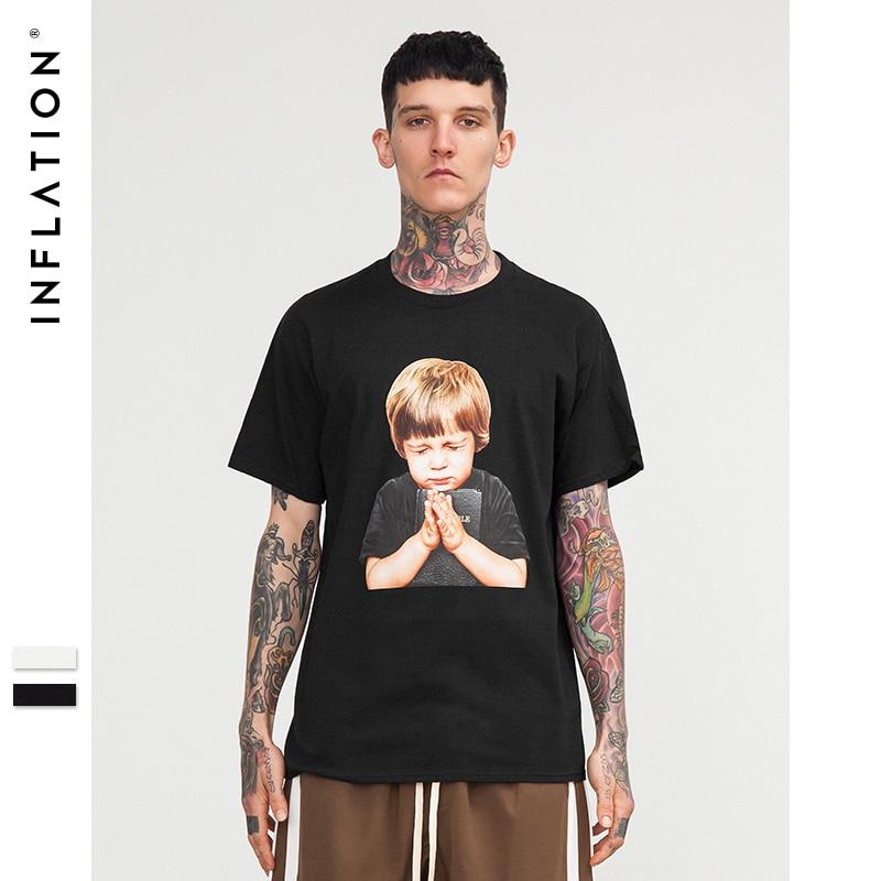 INFLATION Praying boy print short sleeve t shirt mens t shirt fashion 2018 summer hip hop style famous brand t shirts 8249S|famous brand t shirt|brand t shirtfashion t shirt - AliExpress