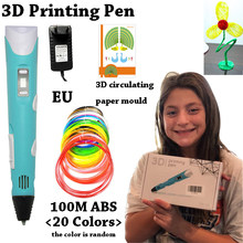 Best Sellers 3D Printing Pen Improved LED Screen DIY 100m ABS PLA Filament Creative Toy Gift for Kids Design Drawing Magic Tools(China)