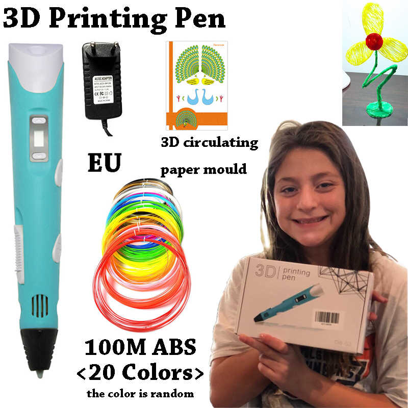 Best Sellers 3D Printing Pen Improved LED Screen DIY 100m ABS PLA Filament Creative Toy Gift for Kids Design Drawing Magic Tools