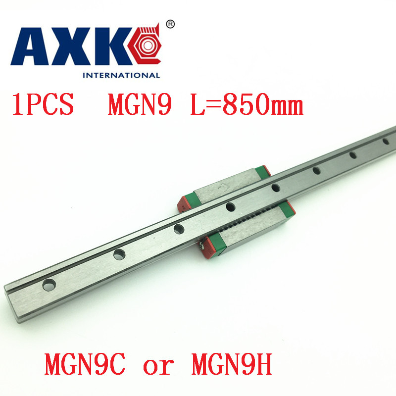 9mm Linear Guide Mgn9 L= 850mm Linear Rail Way + Mgn9c Or Mgn9h Long Linear Carriage For Cnc X Y Z Axis9mm Linear Guide Mgn9 L= 850mm Linear Rail Way + Mgn9c Or Mgn9h Long Linear Carriage For Cnc X Y Z Axis