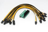 50CM UL 1007 18AWG 6Pin Male To 6Pin Male Cable With 10x 6Pin Port Breakout Adapter