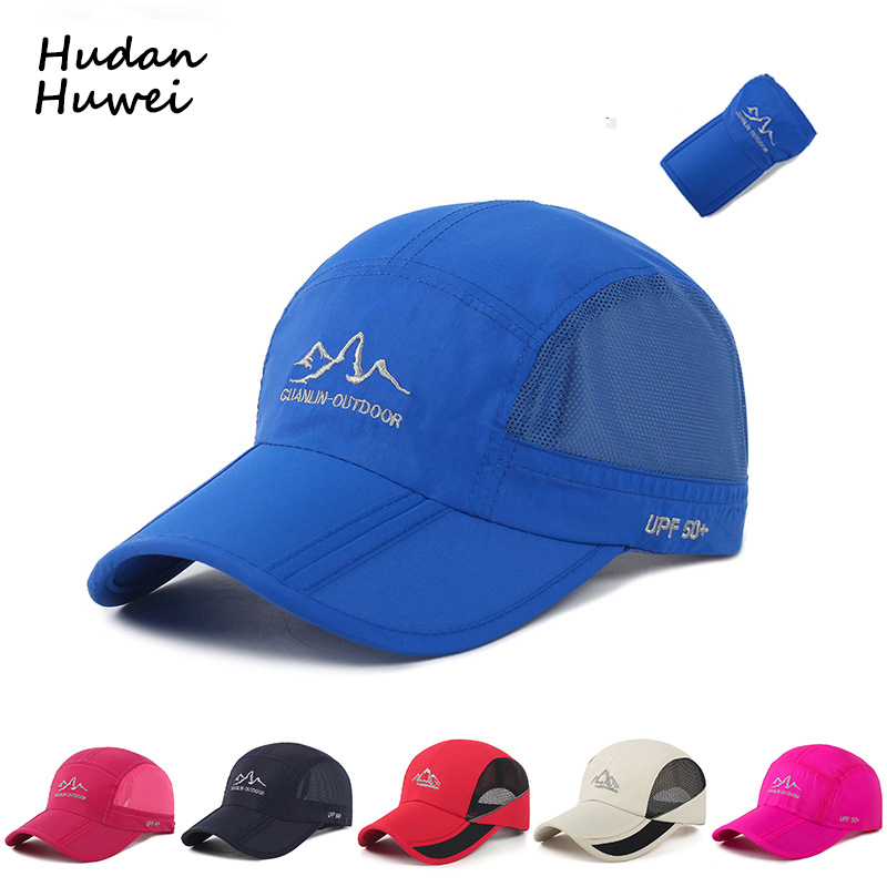 Summer 3D Embroidery Men Women   Baseball     Cap   Outdoor Mountaineering Sun   Cap   Folding Hat Breathable Mesh Fast Dry   Caps   GH-618